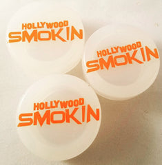 500 count - 7 ml Custom Logo Silicone Bottom - Plastic Top Concentrate Containers