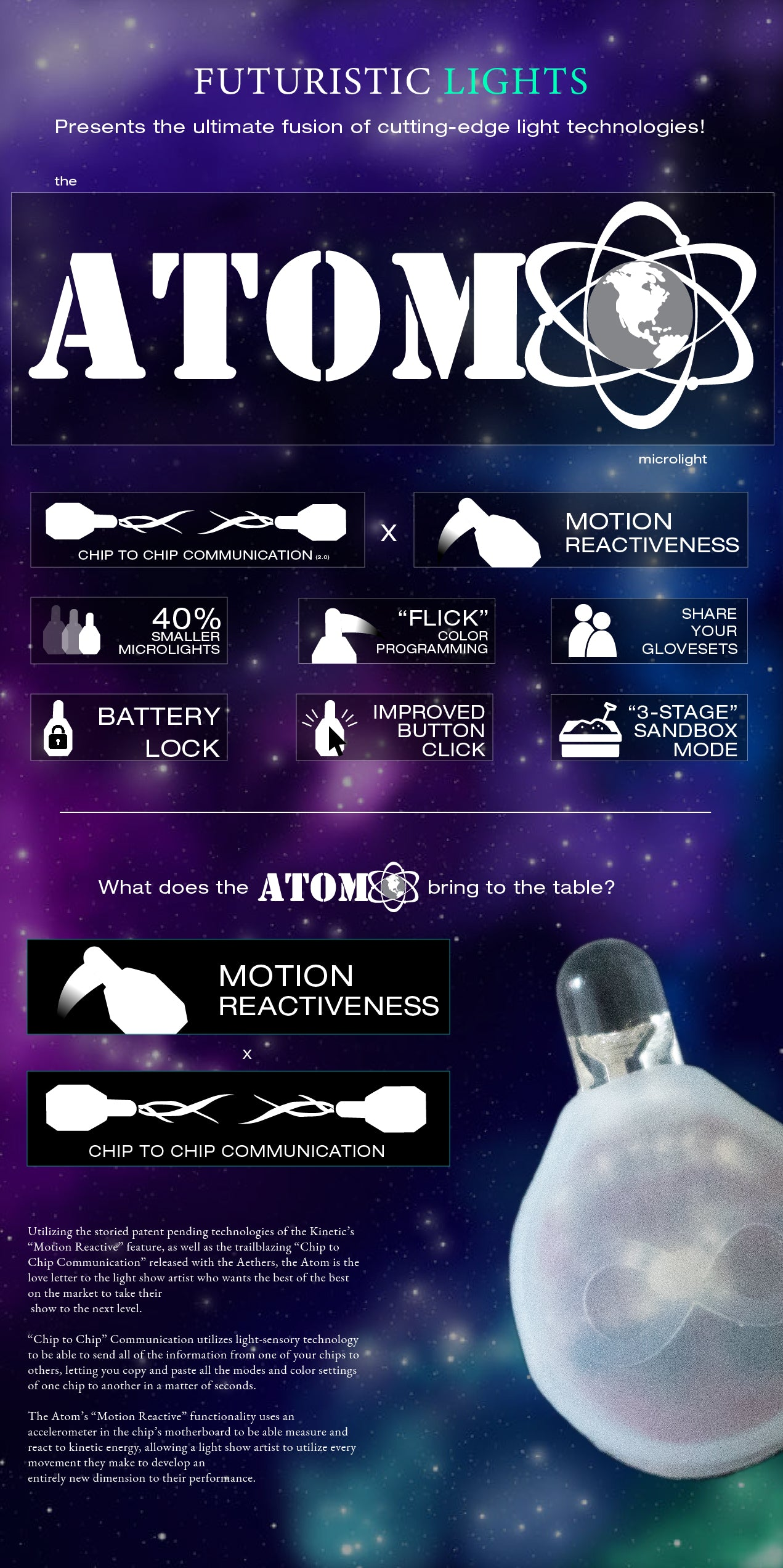 Atom C2C LED Light Gloves Overview Page 1