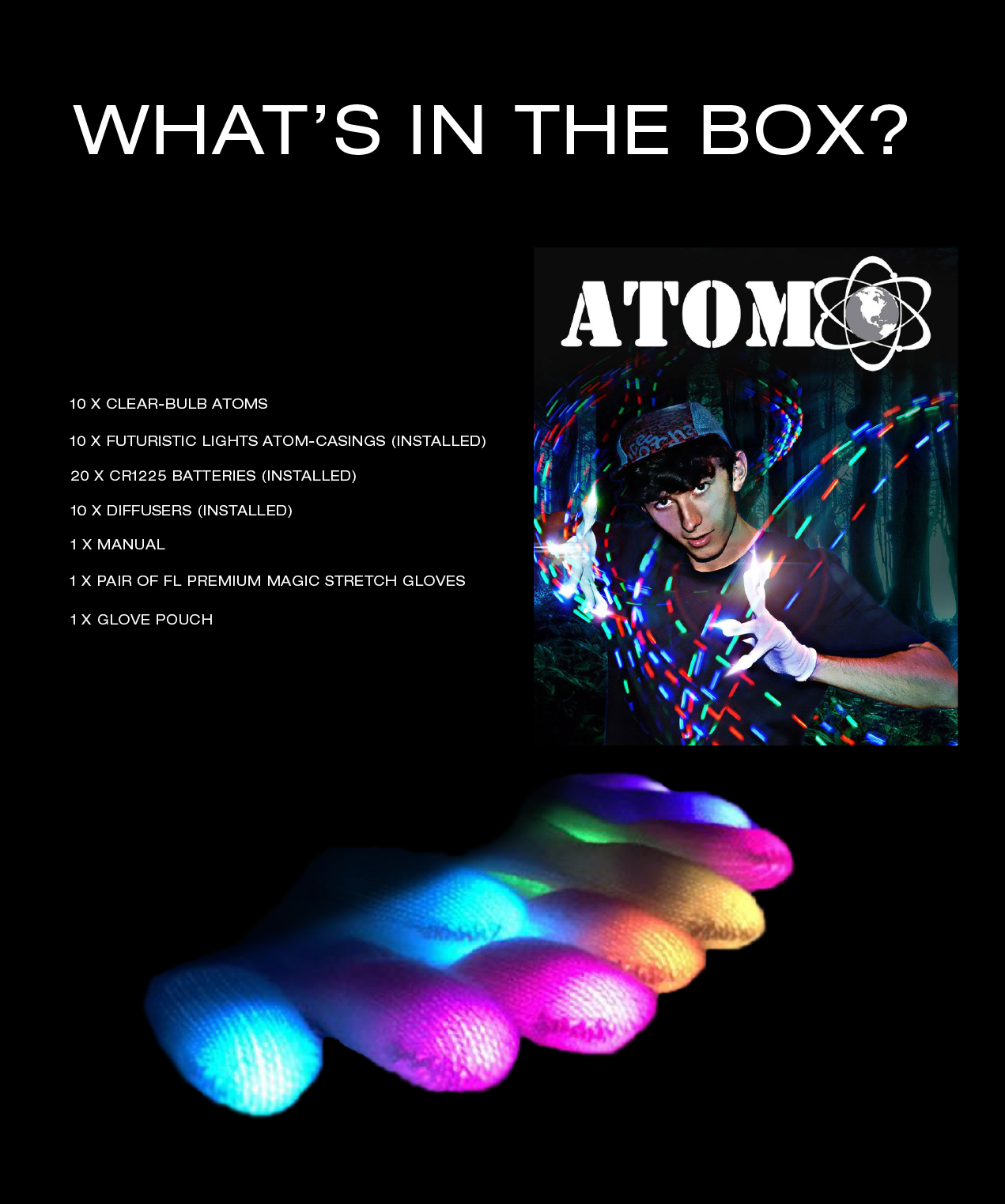 Atom C2C LED Light Gloves Overview Page 7