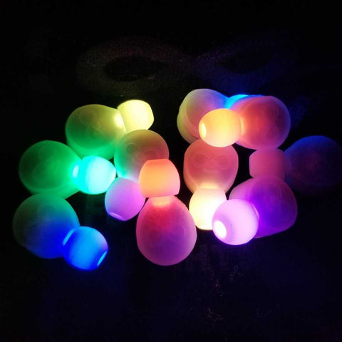 Futuristic Lights Clear LED Gloves Casing - 10 Pack