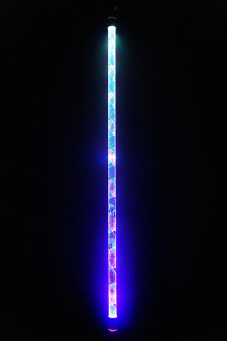 Crystalline Short-String LED Levitation Flow Wand