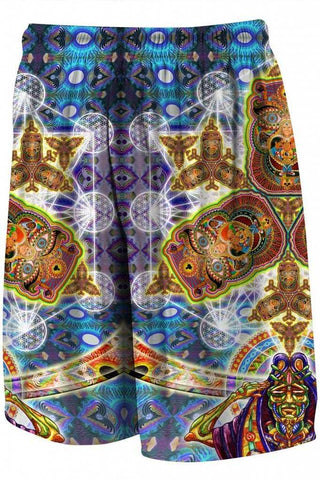 The HeadSpace Chris Dyer Fractal Dimensions Heady Gym Shorts