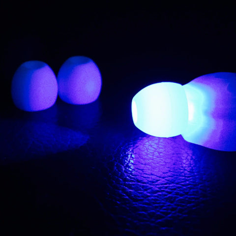 Futuristic Lights Frosted White Pod Fisheye Diffusers - 10 Pack