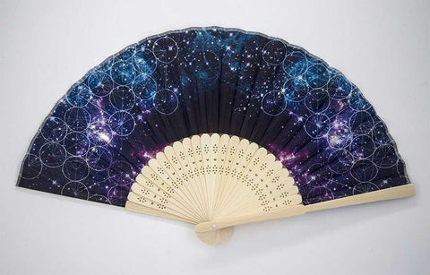 The Headspace Galaxy Foldable Festival Hand Fan