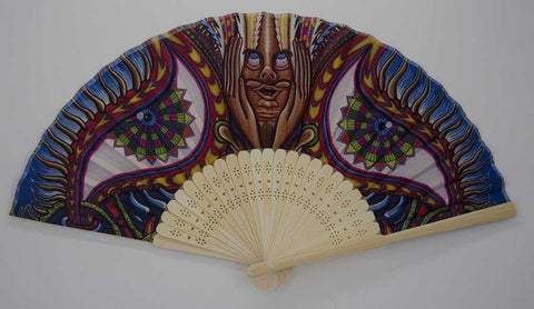 The Headspace Apotheosis of Dualtree Foldable Festival Hand Fan