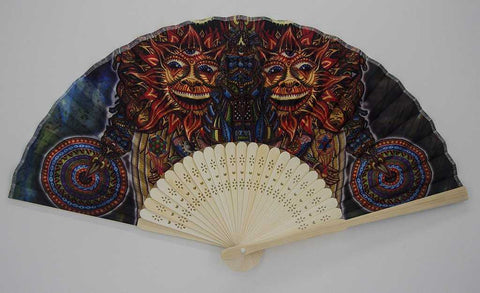 The Headspace Saint Art Foldable Festival Hand Fan