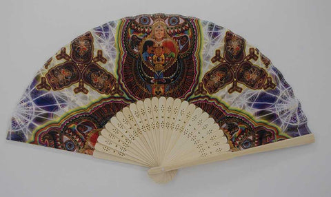 The Headspace Fractal Dimension Foldable Festival Hand Fan