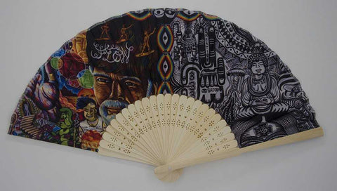 The Headspace Chaos Culture Jam Foldable Festival Hand Fan