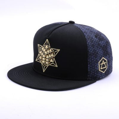 The HeadSpace Star Tetrahedron Festival Snapback Hat