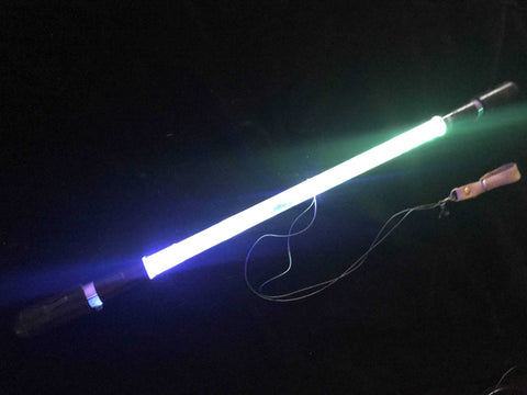 Crystalline Short-String LED Baton Levitation Flow Wand