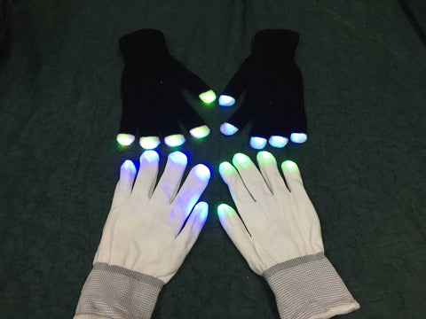 LED 6-Mode Pre-Wired Light Glove Set