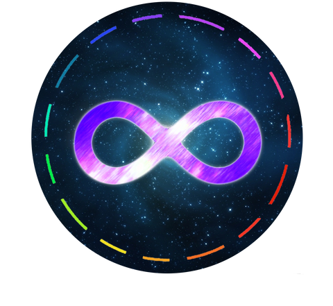 Futuristic Lights Infinity Logo Sticker
