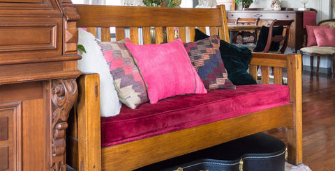 kilim pillow cover on sofa