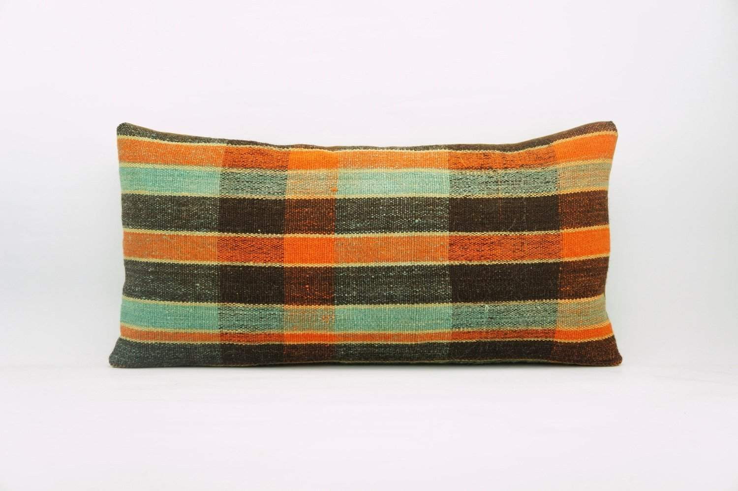 12x24 Vintage Hand Woven Kilim Pillow Lumbar Bohemian pillow case, 968
