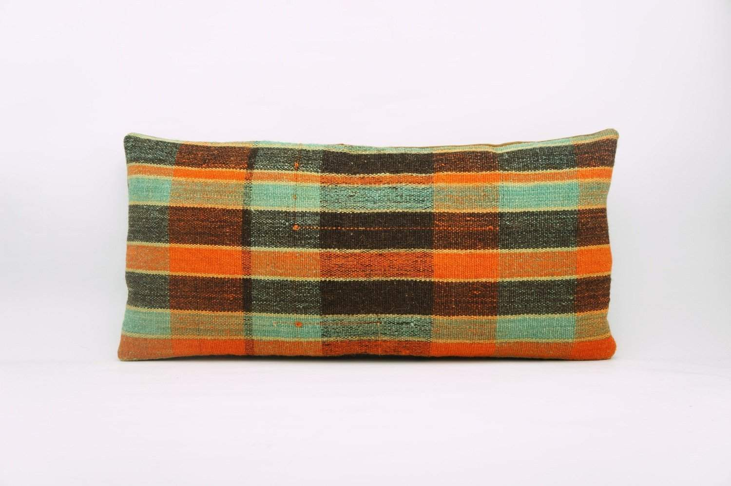 12x24 Vintage Hand Woven Kilim Pillow Lumbar Bohemian pillow case, 971