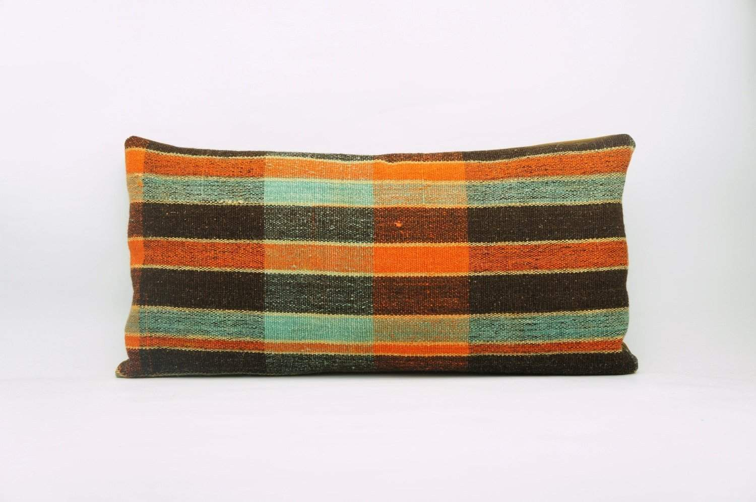 12x24 Vintage Hand Woven Kilim Pillow Lumbar Bohemian pillow case, 972