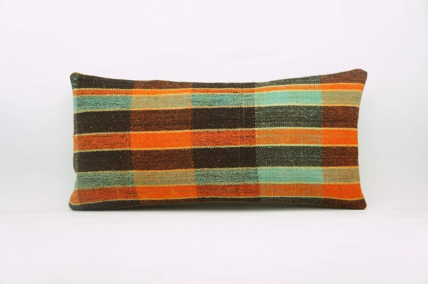 12x24 Vintage Hand Woven Kilim Pillow Lumbar Bohemian pillow case, 973