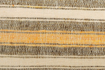 12x24 Vintage Hand Woven Kilim Pillow Lumbar Bohemian pillow case, Modern home decor  orange white brown  striped 958 - kilimpillowstore  - 3