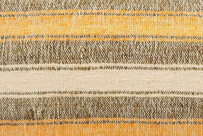 12x24 Vintage Hand Woven Kilim Pillow Lumbar Bohemian pillow case, Modern home decor  orange white brown  striped 964 - kilimpillowstore  - 3