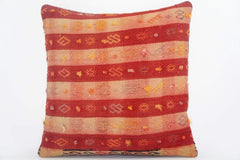 "16""  plaid red pillow case, colorful accent cushion, floor pillow, kilim pillow ,throw pillow cover ,decorative throw , 1606 - kilimpillowstore  - 1"