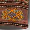 Anatolian Brown Kilim Pillow Cover 16x16 3793 - kilimpillowstore  - 3