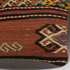 Anatolian Brown Kilim Pillow Cover 16x16 3797 - kilimpillowstore  - 3