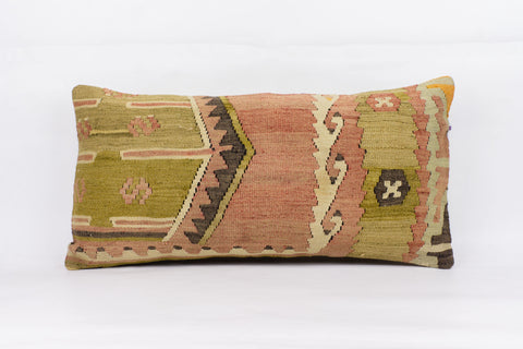 Anatolian Multi Color Kilim Pillow Cover 12x24 4238 - kilimpillowstore  - 1