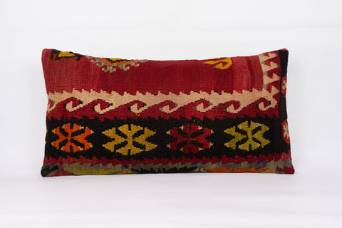 Anatolian Multi Color Kilim Pillow Cover 12x24 4347 - kilimpillowstore  - 1