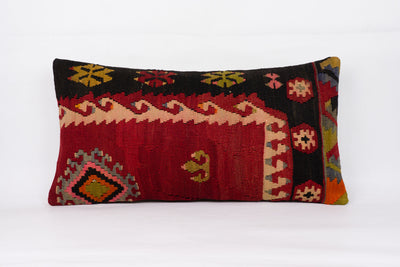 Anatolian Multi Color Kilim Pillow Cover 12x24 4350 - kilimpillowstore  - 1