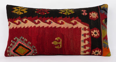Anatolian Multi Color Kilim Pillow Cover 12x24 4350 - kilimpillowstore  - 2