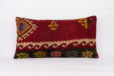 Anatolian Multi Color Kilim Pillow Cover 12x24 4351 - kilimpillowstore  - 1