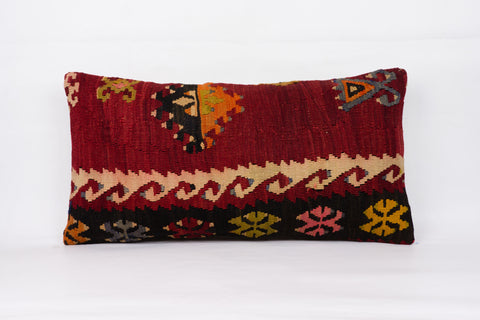 Anatolian Multi Color Kilim Pillow Cover 12x24 4354 - kilimpillowstore  - 1