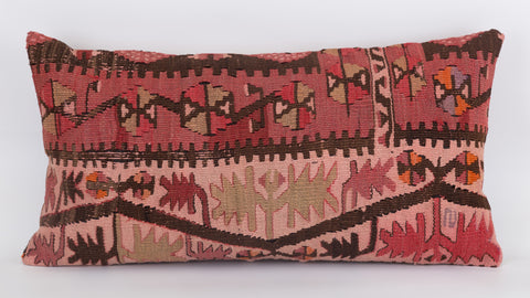 Anatolian Multi Color Kilim Pillow Cover 12x24 5541 - kilimpillowstore  - 1