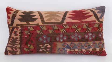 Anatolian Multi Color Kilim Pillow Cover 12x24 5574 - kilimpillowstore  - 1