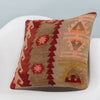 Anatolian Multi Color Kilim Pillow Cover 16x16 3399 - kilimpillowstore  - 2