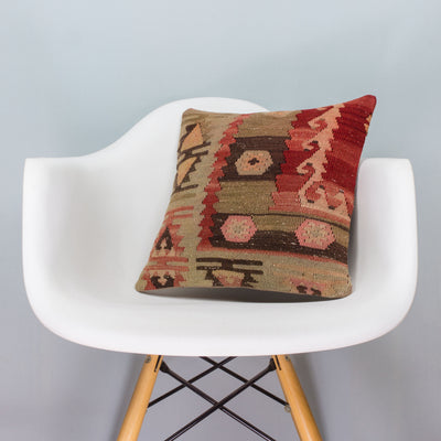 Anatolian_Multi Color_Kilim Pillow Cover_16x16_A0027_3407