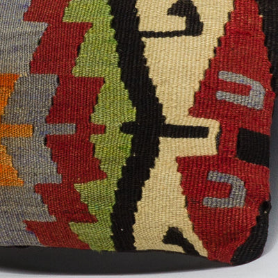Anatolian Multi Color Kilim Pillow Cover 16x16 3627 - kilimpillowstore  - 3