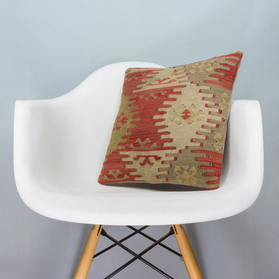 Anatolian Multi Color Kilim Pillow Cover 16x16 3887 - kilimpillowstore  - 1
