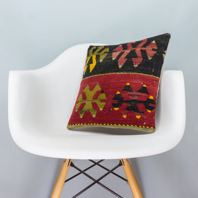 Anatolian Multi Color Kilim Pillow Cover 16x16 3904 - kilimpillowstore  - 1