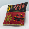 Anatolian Multi Color Kilim Pillow Cover 16x16 3904 - kilimpillowstore  - 2