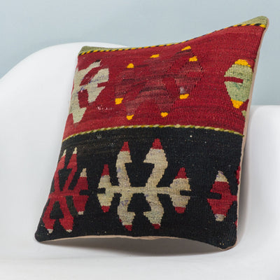 Anatolian Multi Color Kilim Pillow Cover 16x16 3906 - kilimpillowstore  - 2