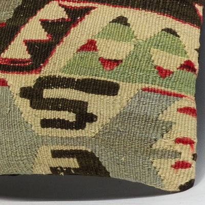 Anatolian Multi Color Kilim Pillow Cover 16x16 3942 - kilimpillowstore  - 3