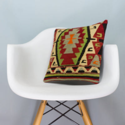 Anatolian_Multi Color_Kilim Pillow Cover_16x16_A0076_3948