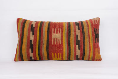 Anatolian Red Kilim Pillow Cover 12x24 4376 - kilimpillowstore  - 1