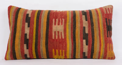 Anatolian Red Kilim Pillow Cover 12x24 4376 - kilimpillowstore  - 2