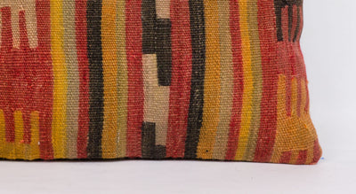 Anatolian Red Kilim Pillow Cover 12x24 4376 - kilimpillowstore  - 3