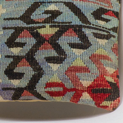 Chevron Multi Color Kilim Pillow Cover 16x16 3373 - kilimpillowstore  - 3