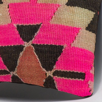 Chevron Multi Color Kilim Pillow Cover 16x16 3479 - kilimpillowstore  - 3