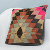 Chevron Multi Color Kilim Pillow Cover 16x16 3485 - kilimpillowstore  - 2