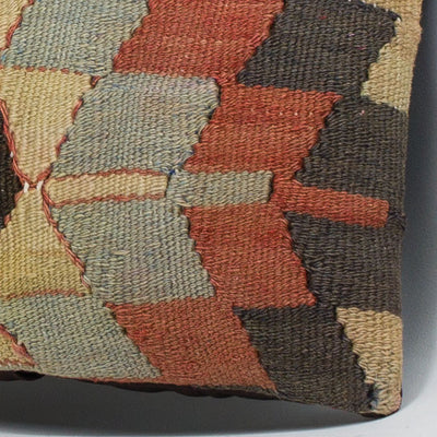 Chevron Multi Color Kilim Pillow Cover 16x16 3485 - kilimpillowstore  - 3